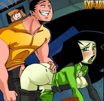 Kim Possible peeps at Shego's sex